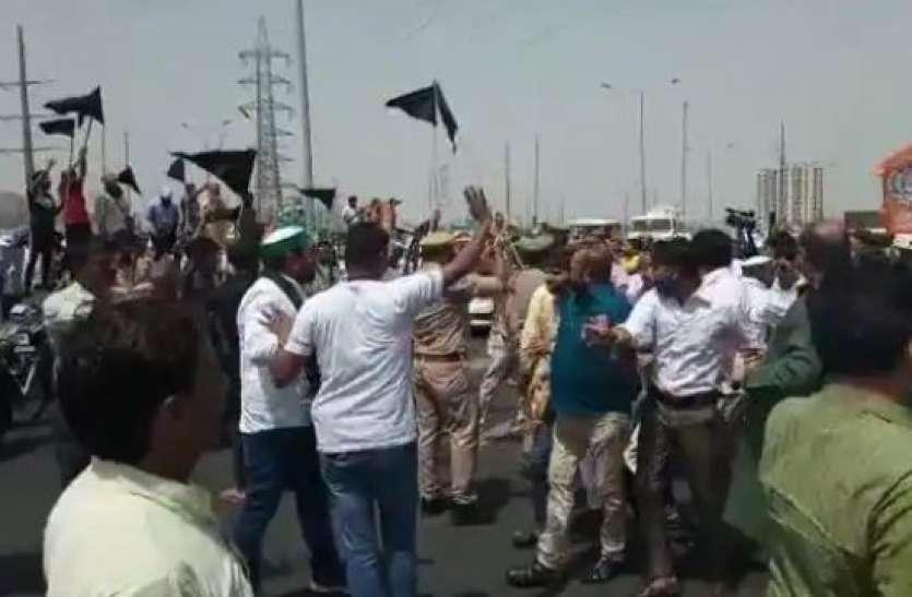 गाजीपुर बॉर्डर पर बीजेपी कार्यकर्ताओं और किसानों के बीच जोरदार झड़प, गाड़ियों में भी हुई तोड़फोड़