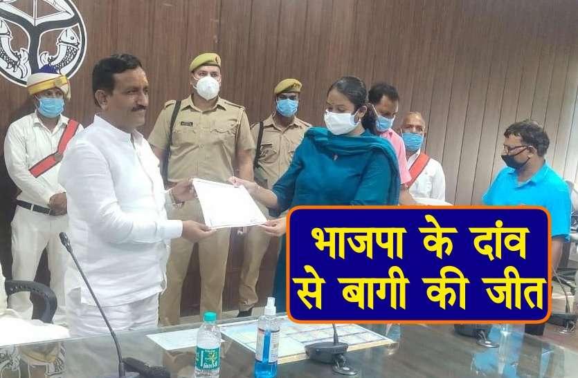 Bhadohi Zila Panchayat President Election: बीजेपी विधायक के भाई बगावत कर जीते चुनाव, भाजपा ने दांव खेलकर दिलवाई बागी को कुर्सी