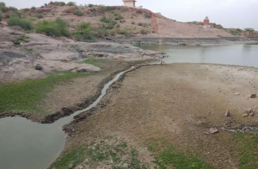 कायलाना की प्यास बुझाने वाला तालाब हुआ प्यासा
