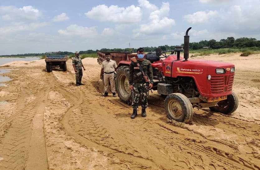 मेदिनीपुर सदर में अवैध खनन के खिलाफ पुलिस की कार्रवाई