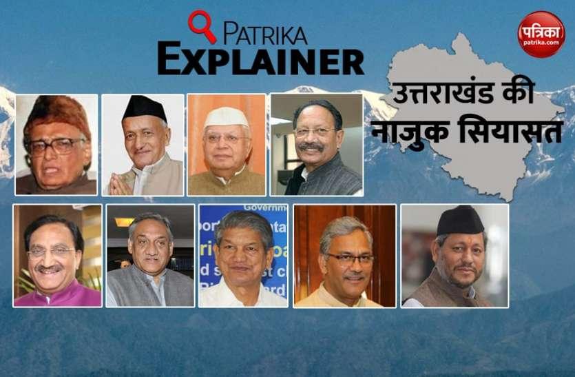Patrika Explainer: उत्तराखंडी सियासत के 20 वर्षों में बने 9 मुख्यमंत्री, केवल एक ही रहा सफल