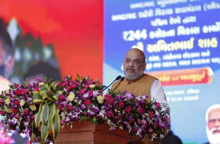 Ahmedabad: गृह मंत्री अमित शाह ने की प्रधानमंत्री की सराहना, कहा, मोदी की विकास यात्रा अब भी जारी