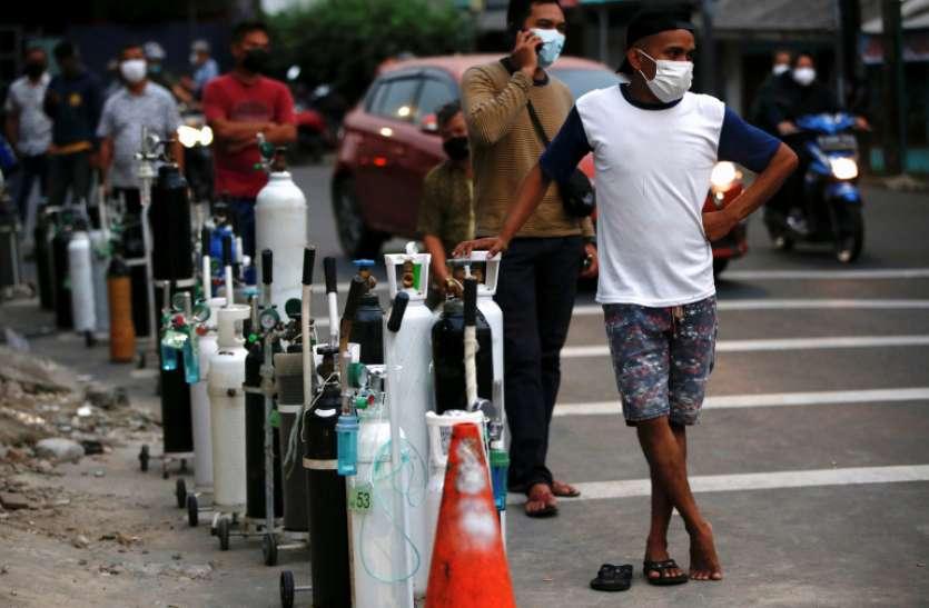 इंडोनेशिया में कोरोना के डेल्टा वेरिएंट ने मचाया कहर, ऑक्सीजन की किल्लत से जूझ रहा पूरा देश