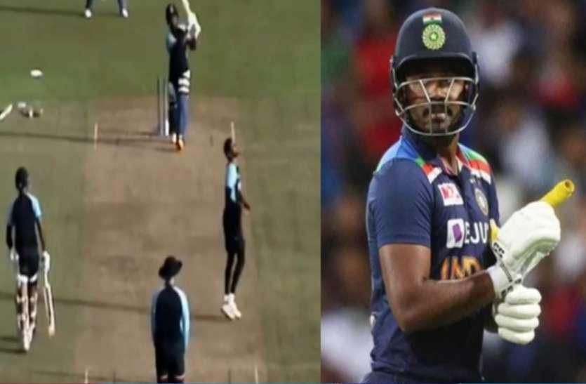 IND vs SL: प्रैक्टिस मैच में संजू सैमसन ने की ताबड़तोड़ बैटिंग, वीडियो वायरल