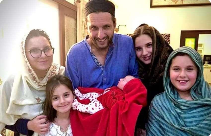 Shahid Afridi and Nadia Afridi
