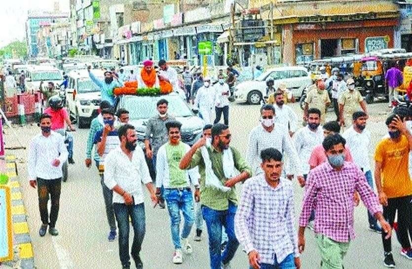 जयपुर से सीकर तक स्वागत का सिलसिला