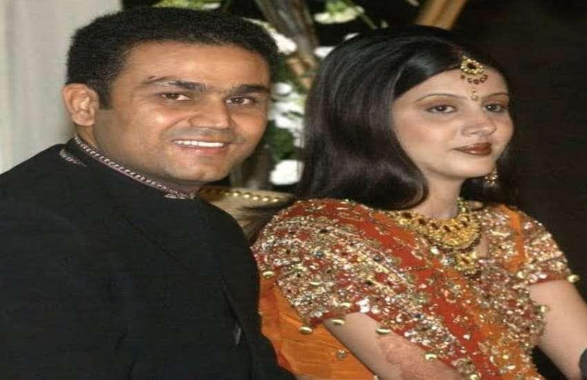 Virender Sehwag and Aarti Ahlawat