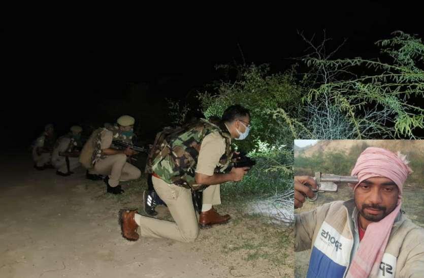 पुलिस मुठभेड़ में एक लाख का इनामी कुख्यात बदन सिंह ढेर, डॉक्टर के अपहरण का था मास्टरमाइंड