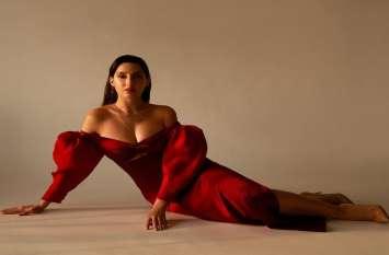 नोरा फतेही ने सुर्ख लाल ड्रेस में शेयर की तस्वीरें, दिखा ग्लैमरस अवतार