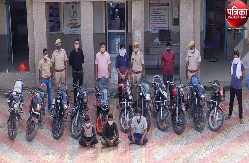 गुजरात से बाइक चुराकर पाली में बेचते सस्ते दाम पर, अंतरराज्यीय चोर गिरोह पकड़ा