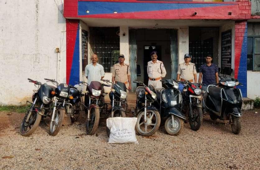 चोरी के वाहनों से नशे का कारोबार करने वाले गिरोह का पर्दाफाश, दो गिरफ्तार