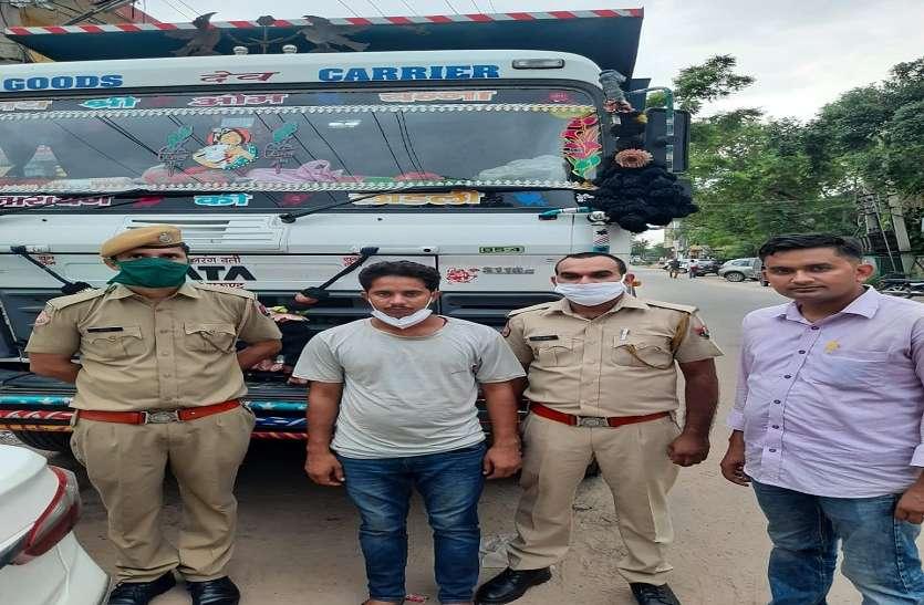 जयपुर से डम्पर चोरी करने वाला बदमाश हरियाणा में गिरफ्तार