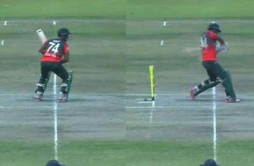 BAN vs  ZIM: क्रिकेट पिच पर दिखा भूत! वीडियो हुआ वायरल