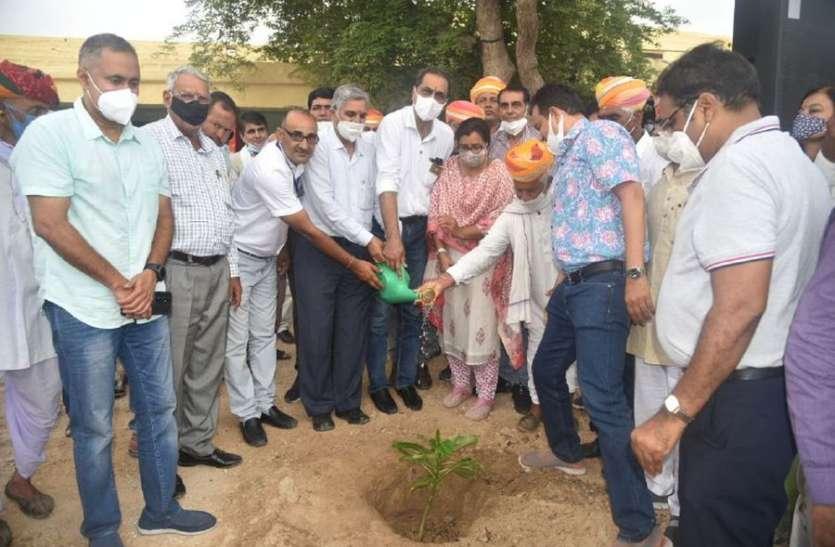 एक हजार पौधे रोपित कर ली पर्यावरण संरक्षण की शपथ