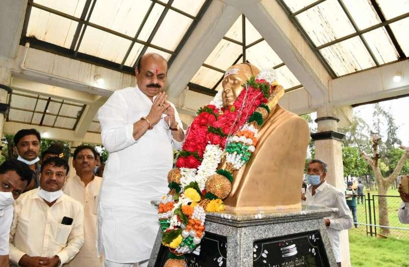 मुख्यमंत्री बोम्मई माता-पिता की समाधि पर पहुंचे, की पूजा