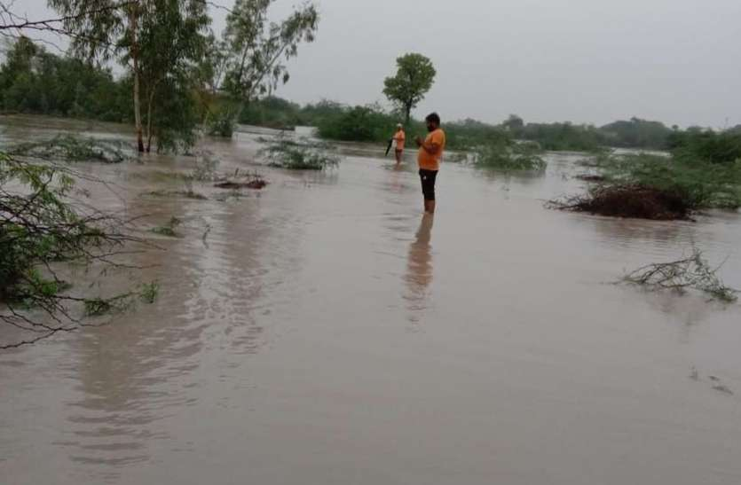 झमाझम बारिश से नदी- नाले उफने, मार्ग अवरुद्ध