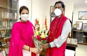 एमपी की जनजातीय मंत्री ने दिल्ली में केन्द्रीय मंत्रियों से  की मुलाकात