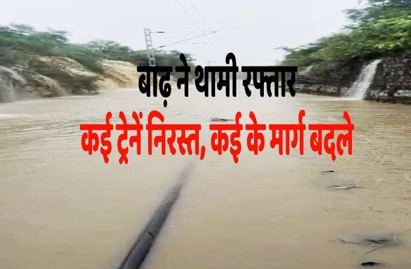 मध्यप्रदेश में बाढ़ ने थामी ट्रेनों की रफ्तार, कई ट्रेनें निरस्त तो कई के रूट बदले, देखें लिस्ट