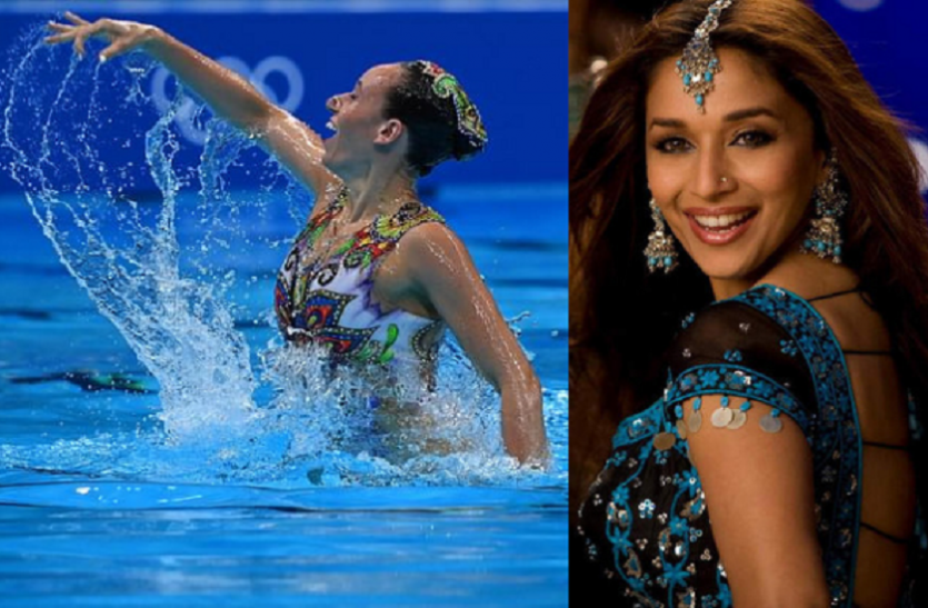 israeli swimmers perform on madhuri dixit song aaja nachle in tokyo