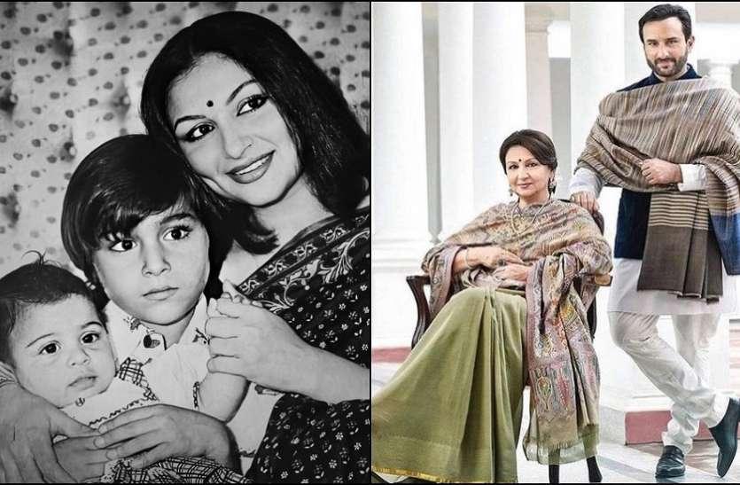 सैफ अली खान के लिए शर्मिला टैगोर के पास नहीं होता था वक्त, दूसरी मां ने था पाला