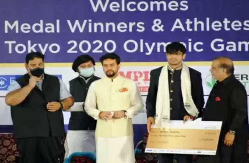 आईओए ने टोक्यो ओलंपिक में मेडल जीतने वाले भारतीय खिलाड़ियों को नगद पुरस्कार देकर किया सम्मानित