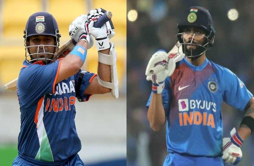 विराट कोहली vs सचिन तेंदुलकर : जानिए 13 साल के वनडे कॅरियर में कौन किस पर पड़ रहा है भारी