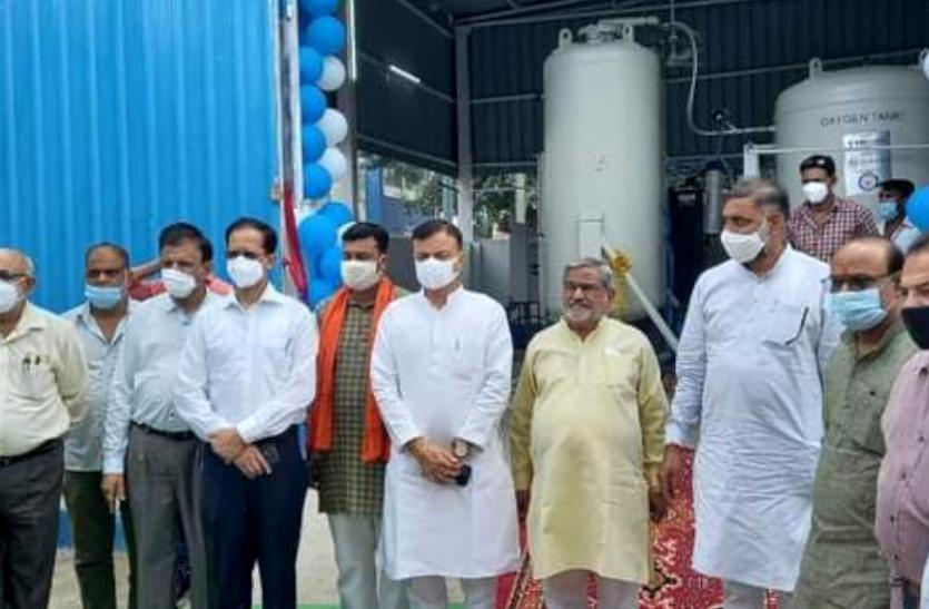 सीएम शिवराज सिंह चौहान ने किया ऑक्सीजन प्लांट का लोकार्पण, 1 मिनट में बनेगी 1 हजार लीटर ऑक्सीजन