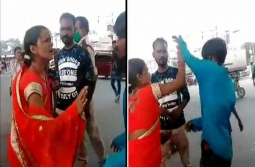 थप्पड़ गर्ल के बाद राजधानी में चप्पल लेडी का वीडियो वायरल, किराया मांगने पर सरेआम पिटाई