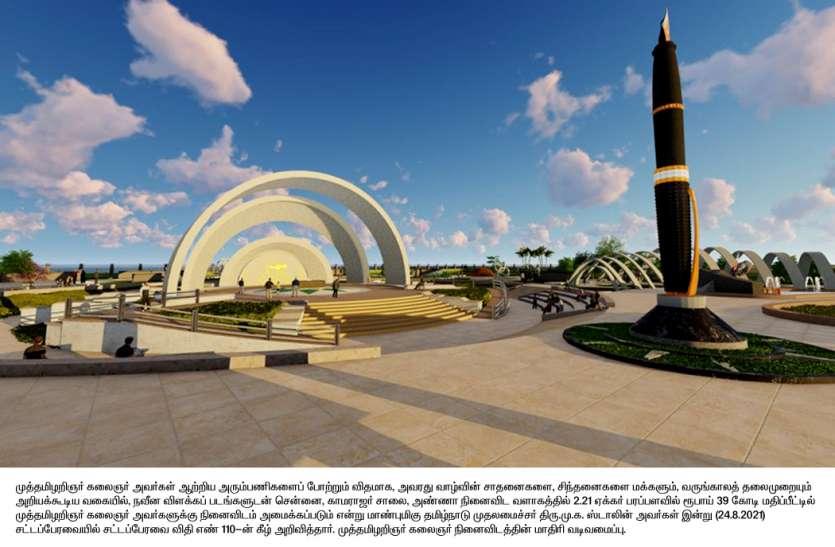 39 करोड़ की लागत से करुणानिधि का बनेगा स्मारक