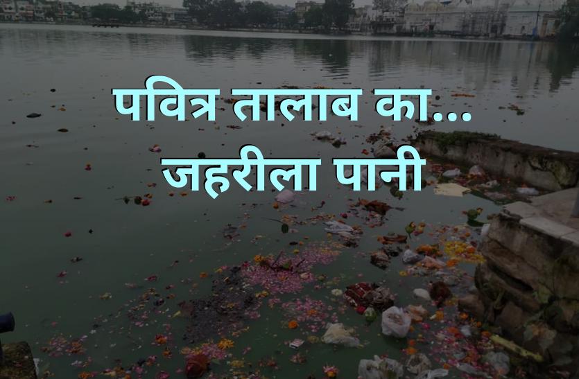 पवित्र तालाब का जहरीला पानी, यहीं होता है गणेशोत्सव, दुर्गा विसर्जन - देखें वीडियो