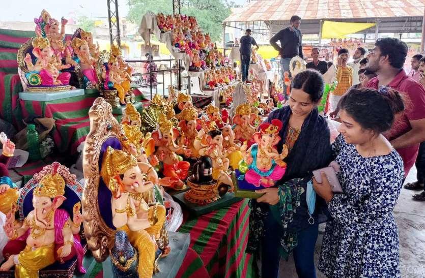 पुरानी अनाज मंडी में लगा गणेश उत्सव का बाजार