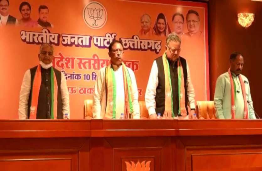 बस्तर मंथन में बनी रणनीति पर भाजपा की अहम बैठक शुरू, इन मुद्दों पर आंदोलन तेज करने होगी चर्चा