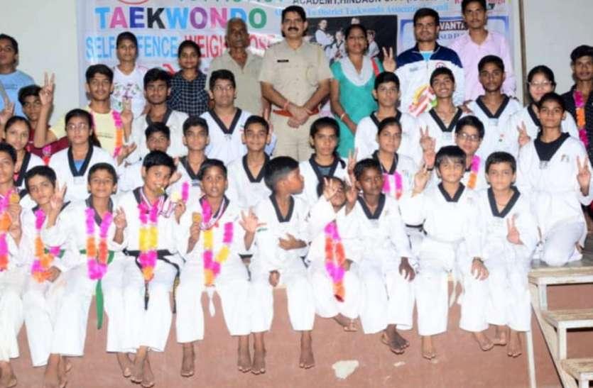 भरतपुर में हुई ताइक्वांडो चैंपियनशिप में करौली जिले के खिलाडिय़ों का परचम