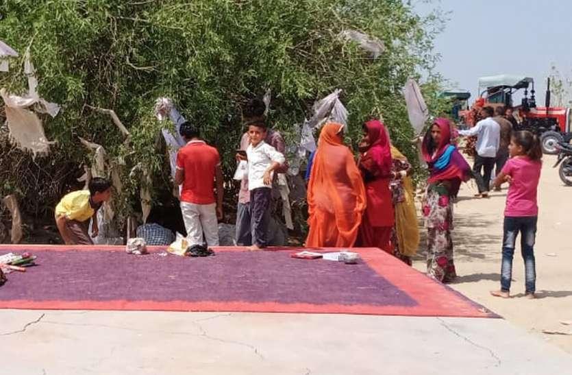 भूरा बाबा मंदिर में जागरण हुआ आयोजित