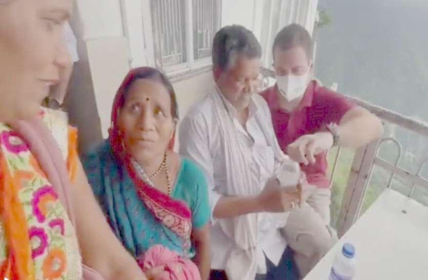 वैष्णो देवी में अचानक प्रदेश के किसान से मिले राहुल, सरकार के कामकाज की तारीफ