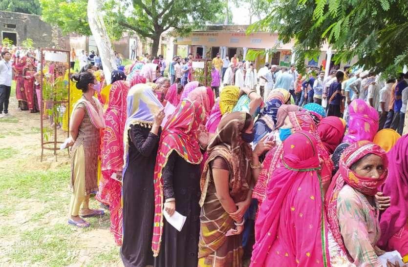 शाहपुरा ब्लॉक में पहली बार एक दिन में 14 हजार 889 लोगों का वैक्सीनेशन किया