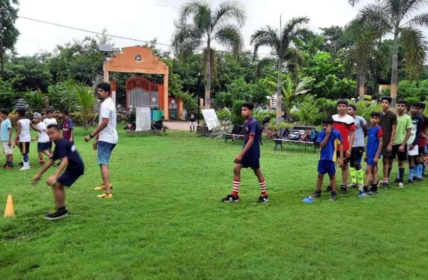 स्टेडियम में कीचड़-पानी भरा, खेल गतिविधियां ठप, पार्क में चल रही फिजिकल एक्टिविटी