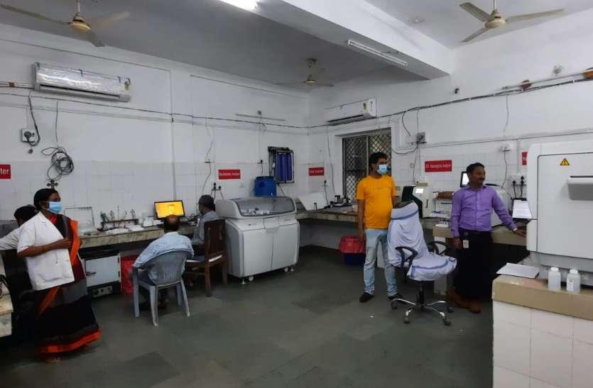जिला अस्पताल के सेंट्रल लैब में शुरु हुई 1 करोड़ की जांच मशीनें,  हो रही 104 जांचे