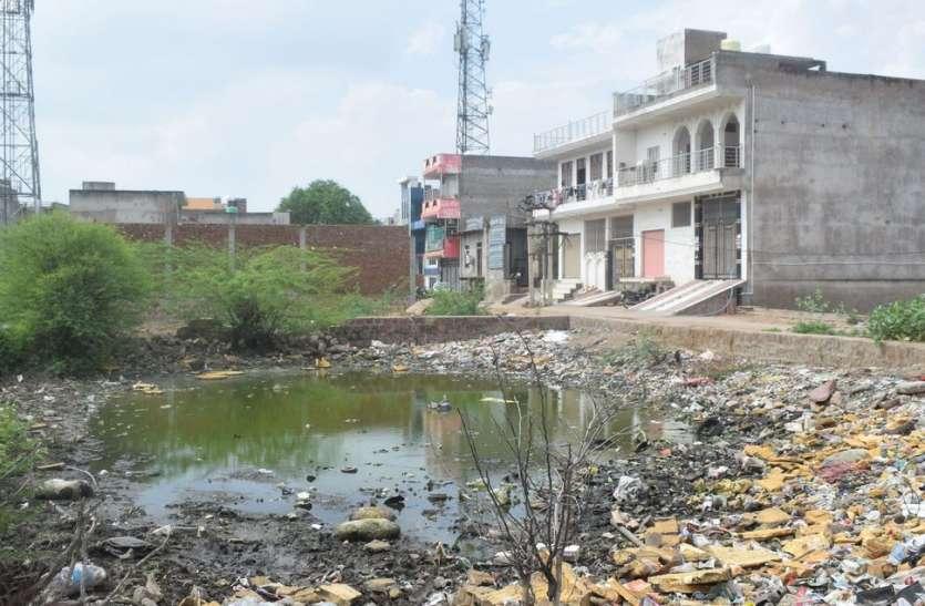 मंडरा रहा डेंगू का डंक, गंदे पानी से लबालब खाली भूखण्ड