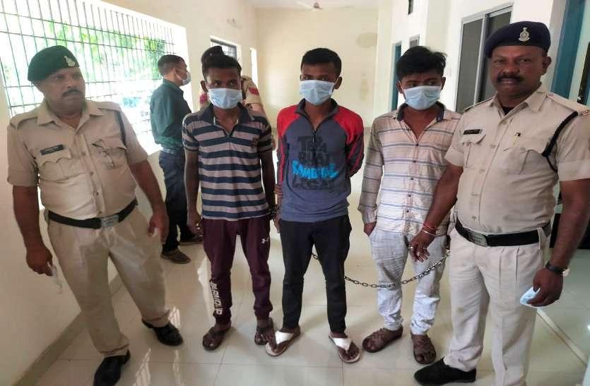 रिटायर्ड अधिकारी के घर 11 लाख 50 हजार की चोरी, तीन आरोपी गिरफ्तार, चोरी के पैसे से युवक ने गणेश पंडाल लगाया डीजे