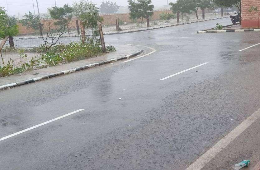 बारिश से नहाई सॉल्ट सिटी फलोदी