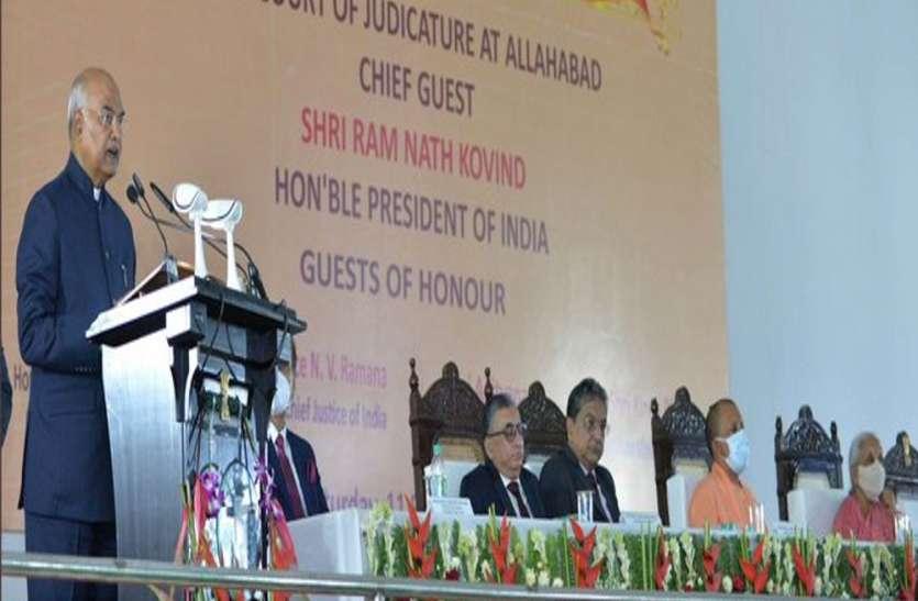 President Ramnath Kovind in Prayagraj : राष्ट्रपति बोले- महिलाओं में न्याय की प्रवृत्ति अधिक, न्यायपालिका में बढ़े भागीदारी