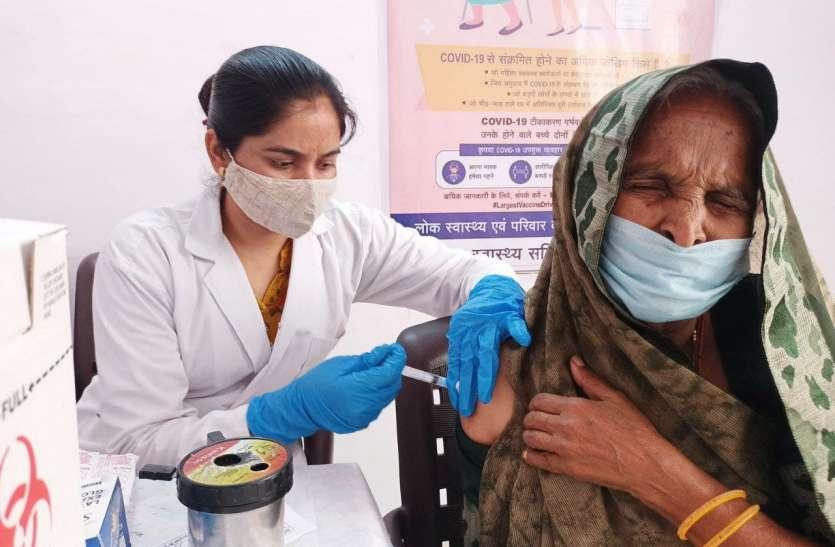 लक्ष्य से 96 प्रतिशत अधिक लोगों को लगा टीका