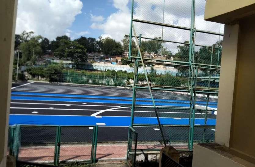 ओलंपिक स्तर की ब्लू टर्फ से सजेगा स्टेडियम