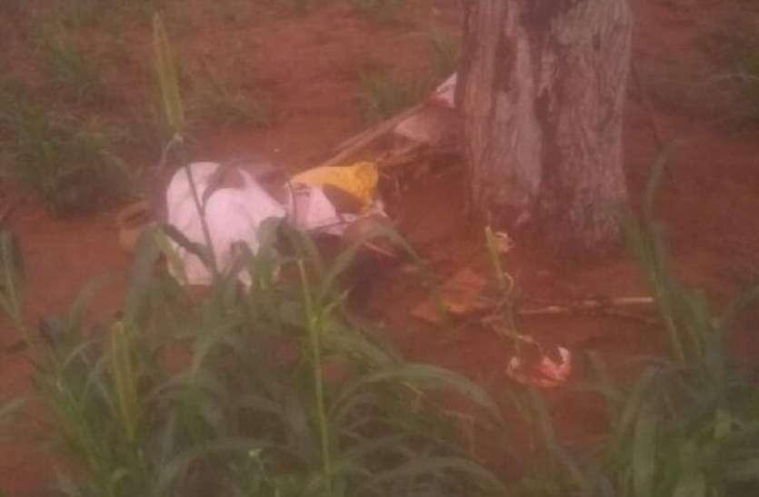 खेत में पेड़ पर बिजली गिरी, कृषक दम्पती की मृत्यु