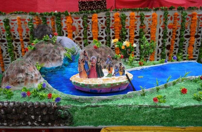108 किलो का विशेष केक अर्पित