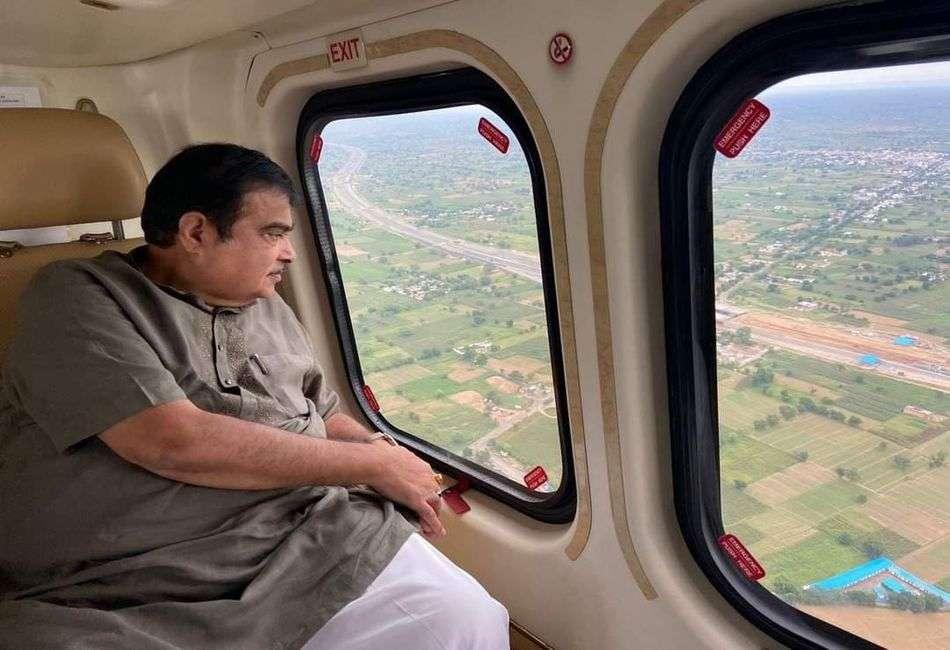 दिल्ली-मुम्बई ग्रीनफील्ड राजमार्ग का केन्द्रीय मंत्री नितिन गडकरी ने किया हवाई निरीक्षण, कहा- दिल्ली से जयपुर इलेक्ट्रिक हाइवे ड्रीम प्रोजेक्ट