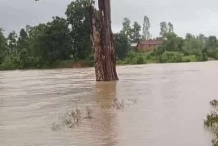 Danger Of Flood In Anuppur Youth Shed Anuppur Flood