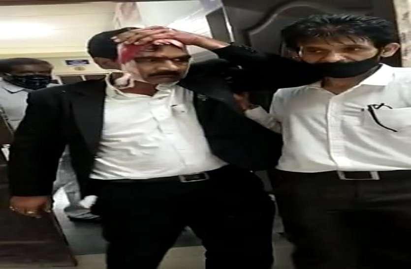 जिला भाजपा उपाध्यक्ष व जिला मंत्री में विवाद, जिला मंत्री घायल, नागपुर में चल रहा उपचार