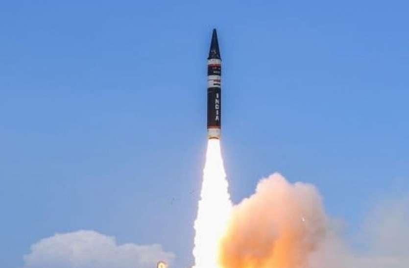 भारत की अग्नि-5 मिसाइल के परीक्षण से चीन परेशान, शांति की गुहार लगाई